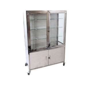 cabinet-2door-glass-ss