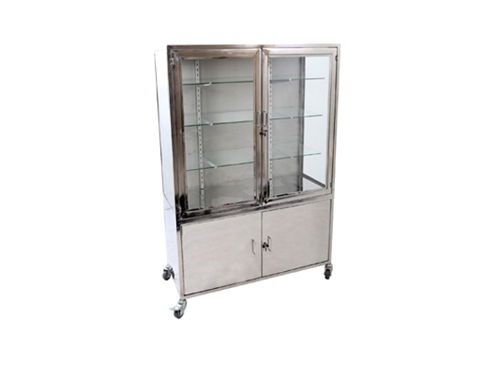 Graha Teknomedika Instrument Cabinet 2 Door Stainless Steel